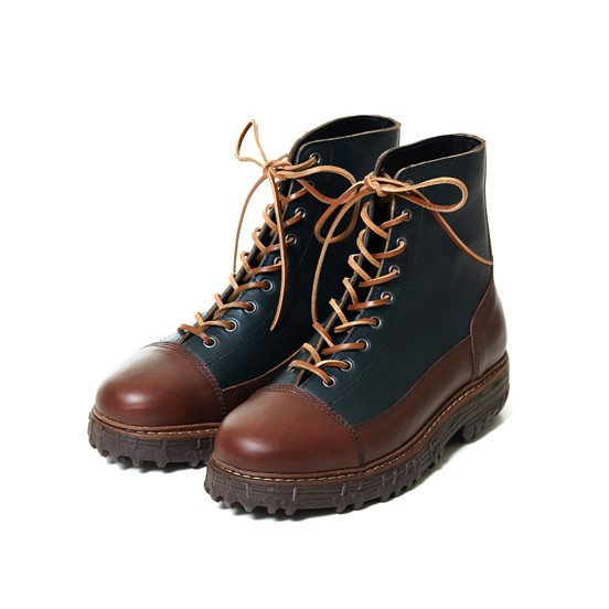 [THE KLAXON] FALCONRY BOOTS COMBI NAVY
