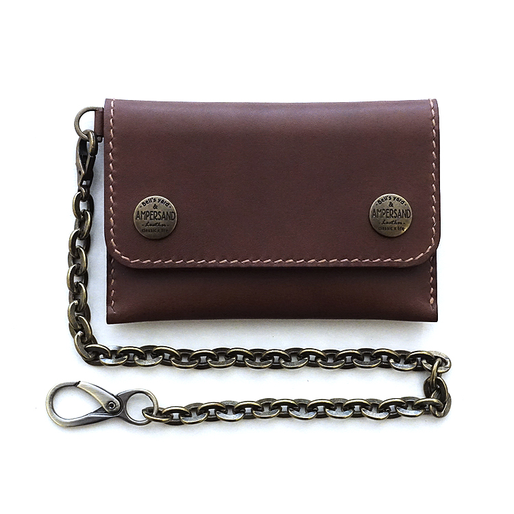 [앰퍼센드 미니트러커 지갑] AMPERSAND - LEATHER TRUCKER WALLET VEGETABLE - BLOWN