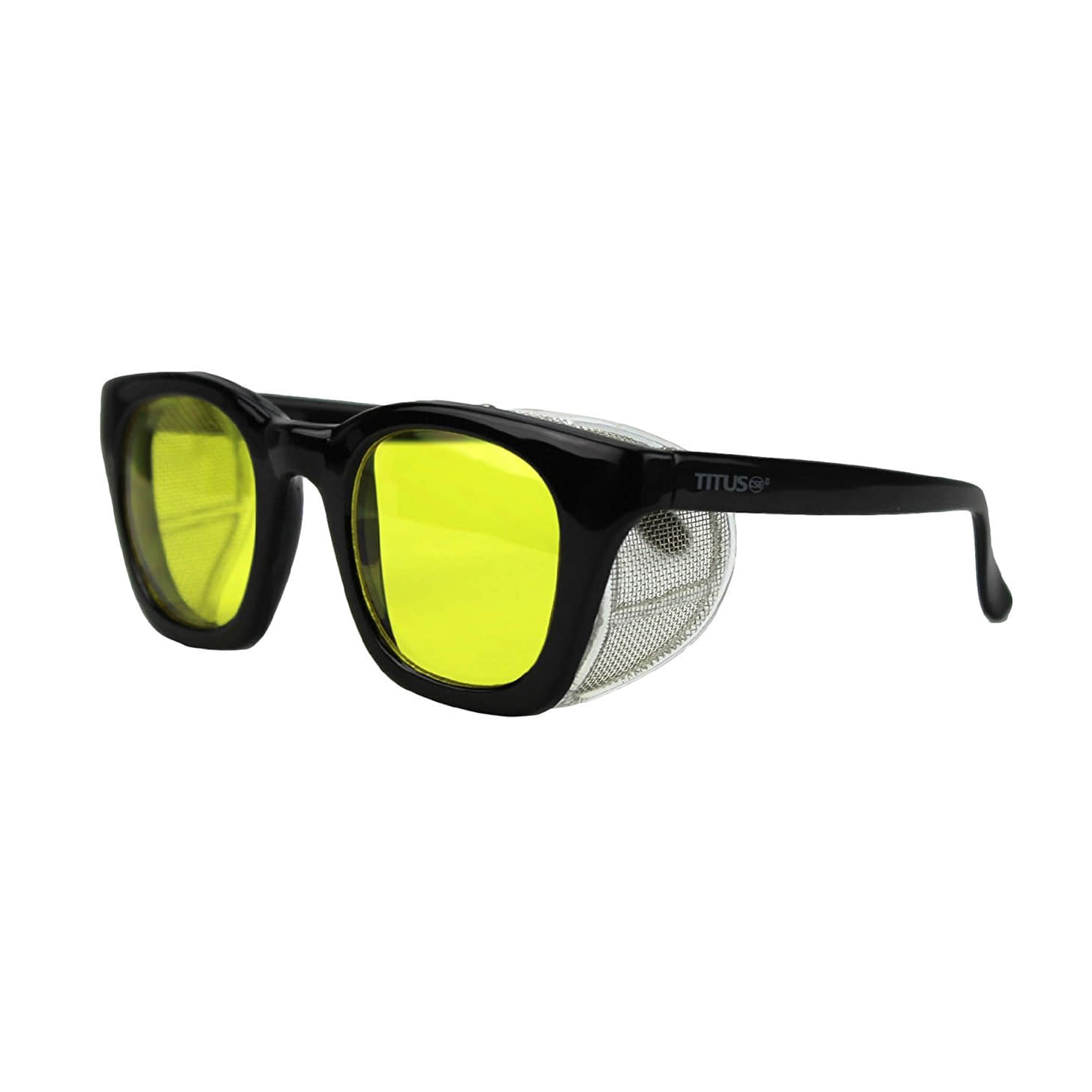 TITUS WIND SHIELD GLASSES GLOSS BLACK / YELLOW