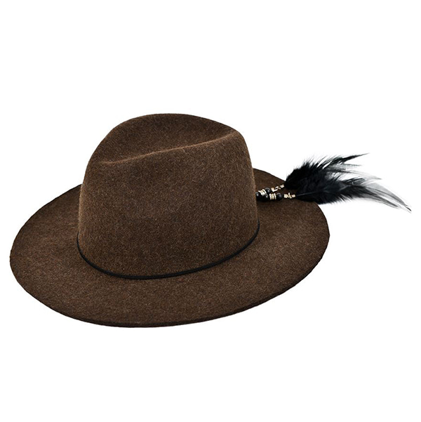 Millionairehats - 2way custom wool fedora [KHAKI]