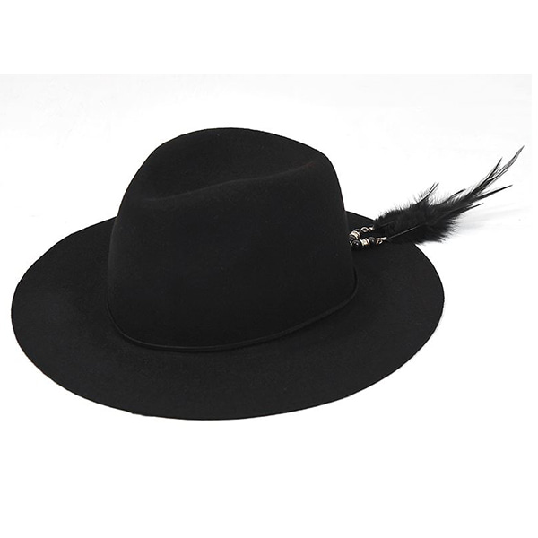 Millionairehats - 2way custom wool fedora [BLACK]