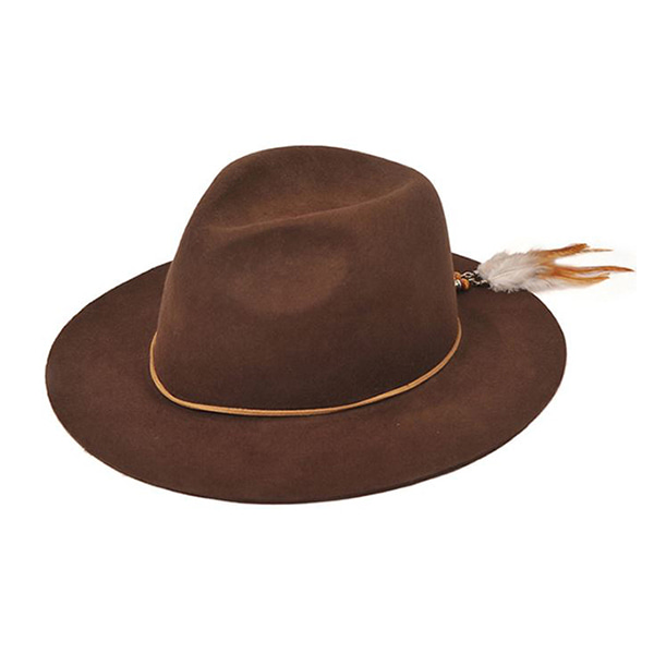 Millionairehats - 2way custom wool fedora [BROWN]