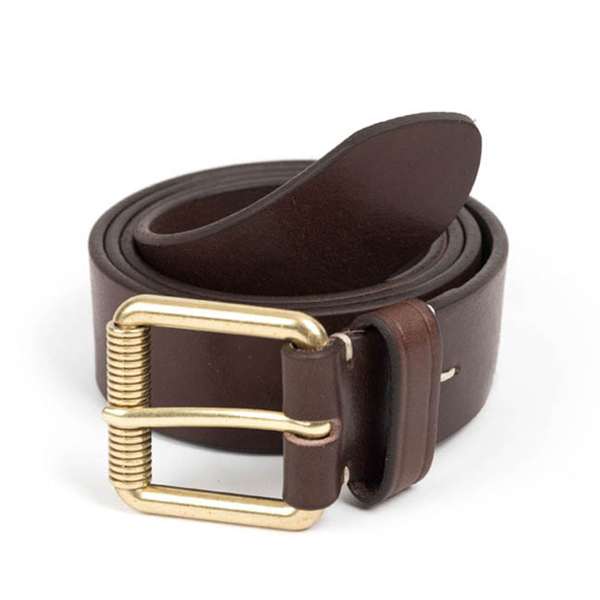 WILDBRICKS - VIN LEATHER BELT (dark brown)