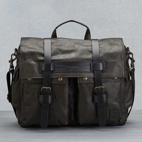 2018F/W BELSTAFF Colonial Messenger Bag - BLACK