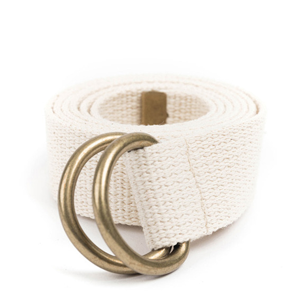WILDBRICKS - BR D-RING BELT (ivory)