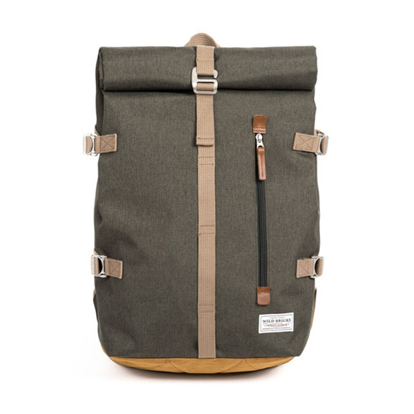 WILDBRICKS - ROLL-TOP BACKPACK (khaki)