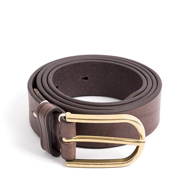 WILDBRICKS - CLASSIC LEATHER BELT (vintage brown)