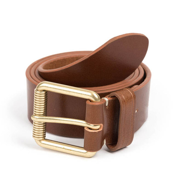 WILDBRICKS - VIN LEATHER BELT (brown)