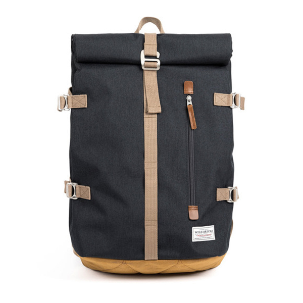 WILDBRICKS - ROLL-TOP BACKPACK (grey)