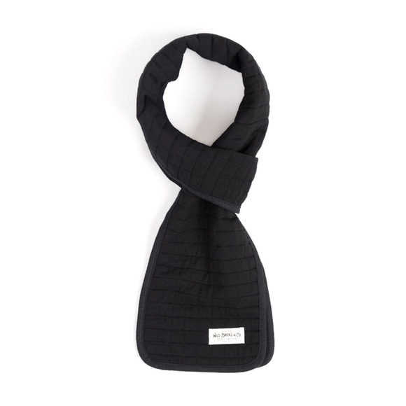 WILDBRICKS - COTTON QUILTED STOLE (black)
