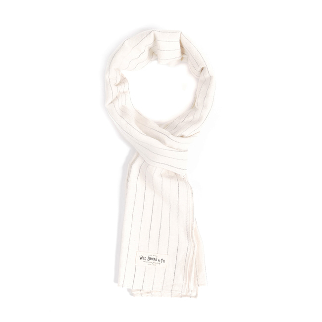 WILDBRICKS - PIN STRIPE STOLE (ivory)