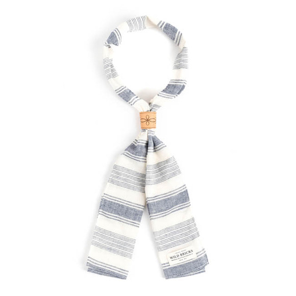 WILDBRICKS - HORIZ SCARF (blue)