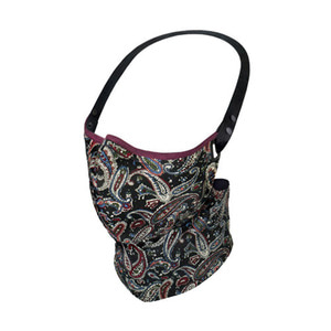 RARE BIRD LONDON - VINTAGE BLACK PAISLEY FACE MASK