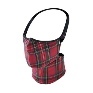 RARE BIRD LONDON - RED TARTAN CHECK FACE MASK
