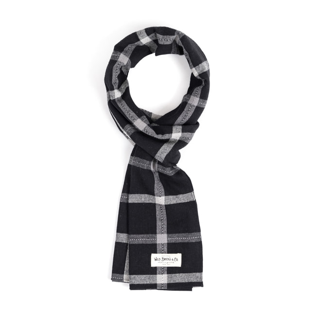 WILDBRICKS - PIN CHECK STOLE (black)