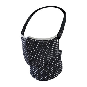 RARE BIRD LONDON  BLACK POLKA DOT FACE MASK