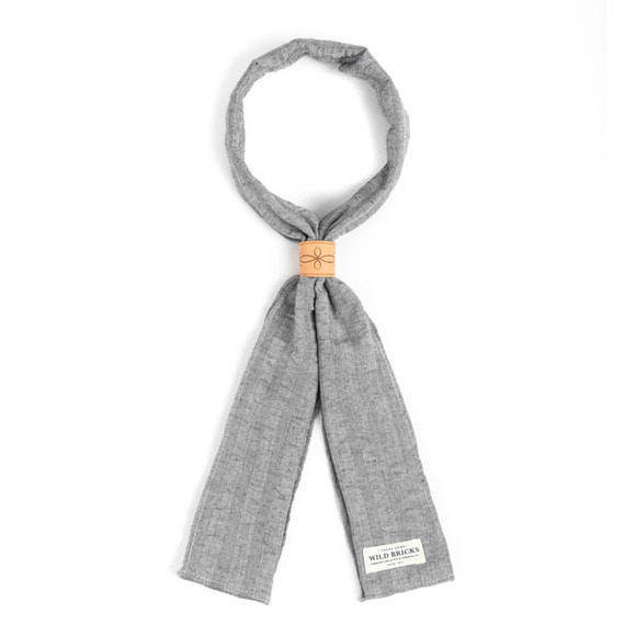 WILDBRICKS - CREPE STRIPE SCARF (grey)