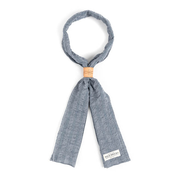 WILDBRICKS - CREPE STRIPE SCARF (blue)