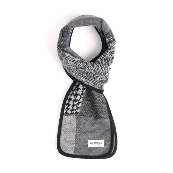 WILDBRICKS - WOOL CR CHECK STOLE (grey)