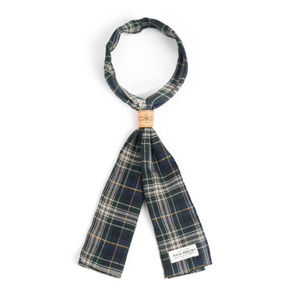 WILDBRICKS - TARTAN CHECK SCARF (green)