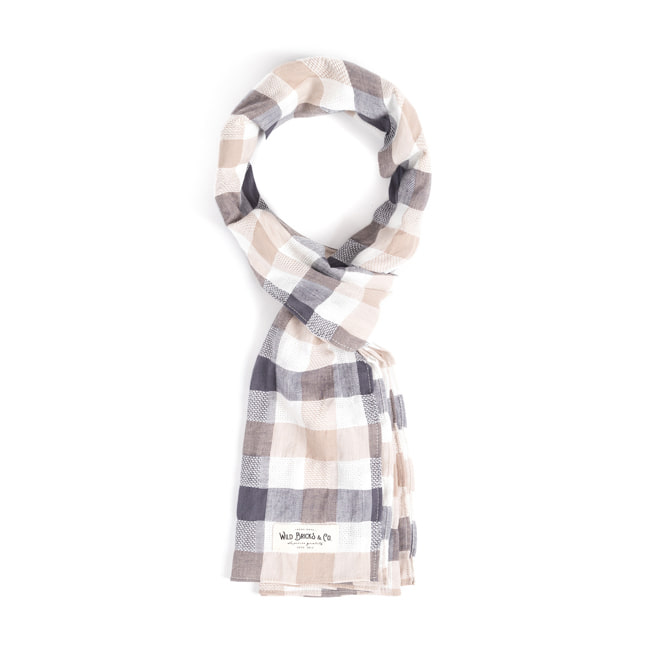 WILDBRICKS - CR CHECK STOLE (beige)