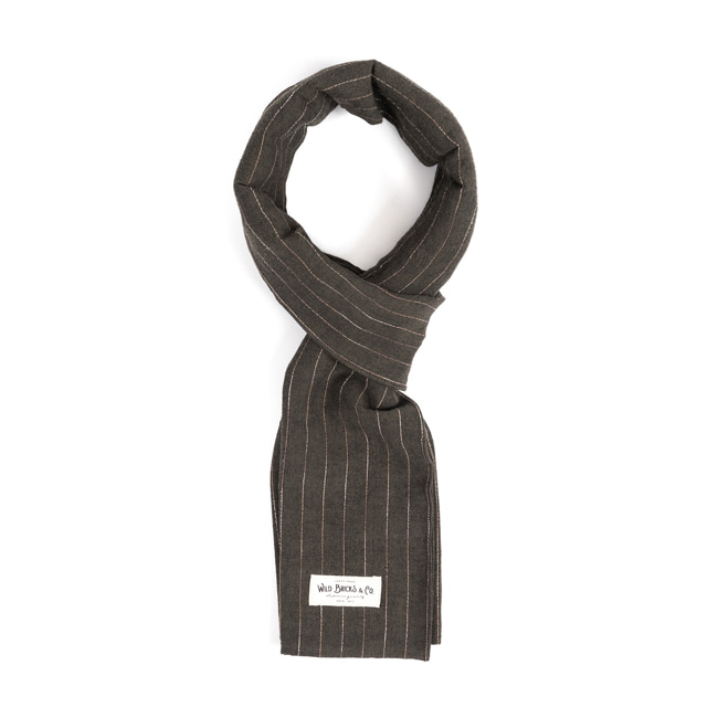WILDBRICKS - PIN STRIPE STOLE (khaki)