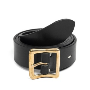 WILDBRICKS - CB BRASS LEATHER BELT (black)