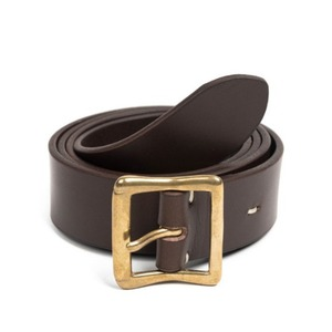 WILDBRICKS - CB BRASS LEATHER BELT (dark brown)