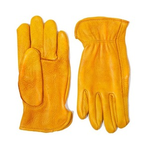 [에이징씨씨씨]AGINGCCC X CAIMAN KOREA - HAND DYEING DRIVERS GLOVES-YELLOW