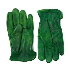 [에이징씨씨씨]AGINGCCC X CAIMAN KOREA - HAND DYEING DRIVERS GLOVES-GREEN