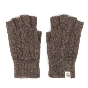 [와일드브릭스 장갑] WILDBRICKS - CABLE FINGERLESS GLOVES (brown)