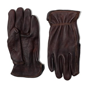 AGINGCCC X CAIMAN KOREA - HAND DYEING DRIVERS GLOVES-DARK BROWN