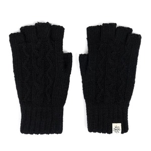 [와일드브릭스 장갑] WILDBRICKS - CABLE FINGERLESS GLOVES (black)