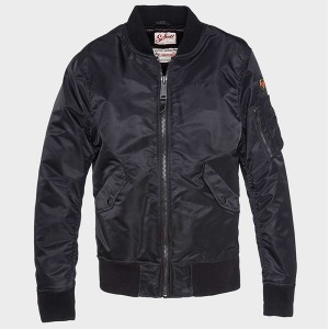 [쇼트뉴욕 항공점퍼] Schott N.Y.C. Europe - MA-1 Bomber Jacket-Black