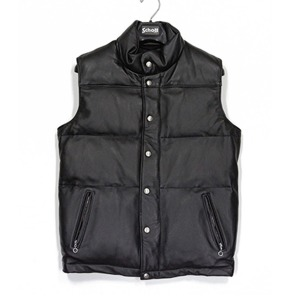 [쇼트뉴욕 가죽자켓] SCHOTT N.Y.C - 204 LEATHER VEST BLACK