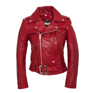 [쇼트뉴욕 여성 라이더자켓] SCHOTT N.Y.C - LCW8600 LEATHER JACKET / RED