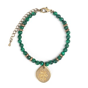 [와일드브릭스 원석 팔찌] WILDBRICKS - TH GEMSTONE BRACELET (green)