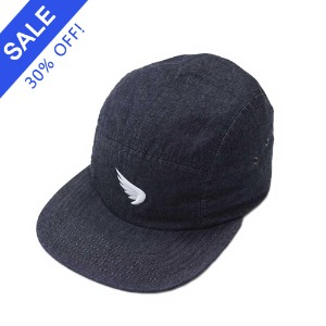 [세인트]SA1NT-  WING EMBROIDERED CAMP CAP INDIGO