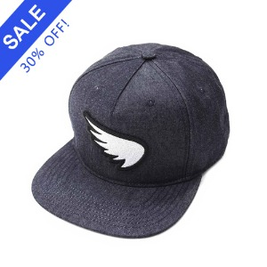 [세인트]SA1NT-  3D EMBROIDERED WING PATCH SNAPBACK INDIGO