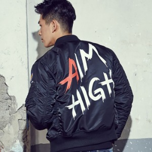 [엑스톤즈 AIMHIGH 항공점퍼 자켓] XTONZ - AIMHIGH JACKET(BLACK)
