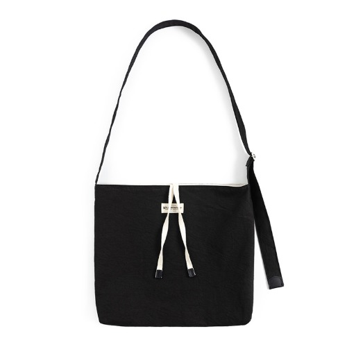 [와일드브릭스] WILD BRICKS - COTTON CRINKIE CROSS BAG (black)