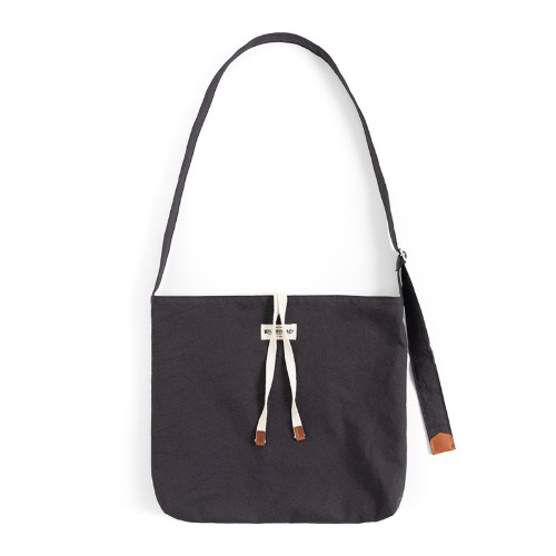 [와일드브릭스] WILD BRICKS - COTTON CRINKIE CROSS BAG (charcoal)